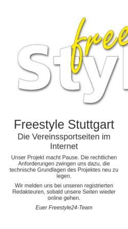 Vorschau der mobilen Webseite www.freestyle-stuttgart.de, Freestyle Stuttgart - Sport in Stuttgart
