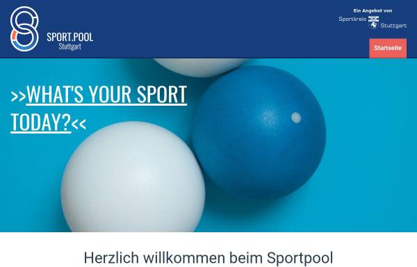 Vorschau von sportpool-stuttgart.de, Sportkreis Stuttgart e.V.