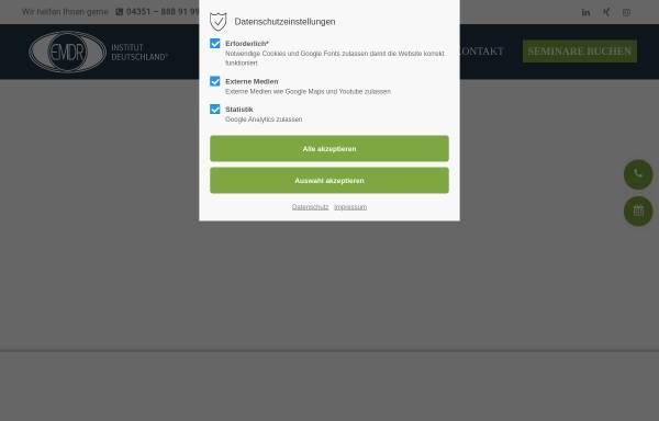 Vorschau von www.emdr-institut.de, EMDR-Institut Deutschland, Inh. Dr. Arne Hofmann