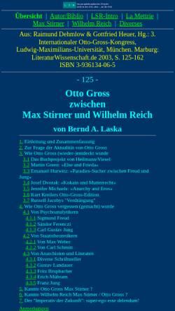 Vorschau der mobilen Webseite www.lsr-projekt.de, Otto Gross zwischen Max Stirner und Wilhelm Reich