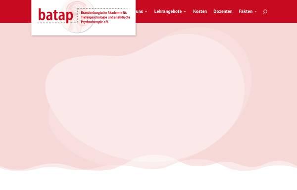 Vorschau von www.batap.de, Weiterbildung Tiefenpsychologie, Psychotherapie