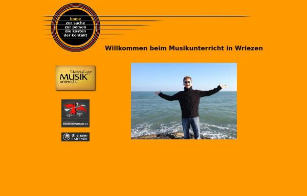 Vorschau von www.musikunterricht-in-wriezen.de, Musikunterricht Steven Kopp