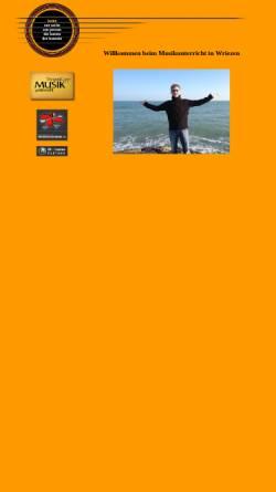 Vorschau der mobilen Webseite www.musikunterricht-in-wriezen.de, Musikunterricht Steven Kopp