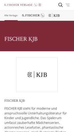 Vorschau der mobilen Webseite www.fischerschatzinsel.de, S. Fischer Schatzinsel