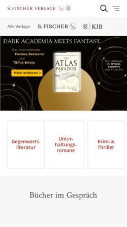 Vorschau der mobilen Webseite www.fischerverlage.de, S. Fischer Verlage