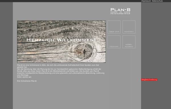 Vorschau von www.plan-b-koeln.de, Badewannen und Waschbecken aus Holz von Plan-B