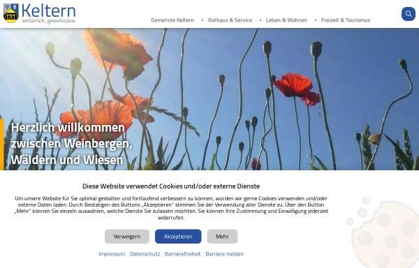 Vorschau von www.keltern.de, Gemeinde Keltern