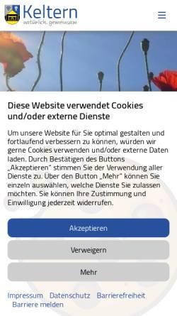 Vorschau der mobilen Webseite www.keltern.de, Gemeinde Keltern