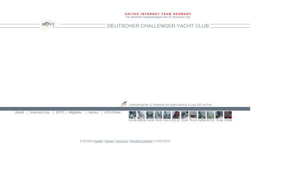Vorschau von www.dcyc.de, Deutscher Challenger Yacht Club e.V. (DCYC)