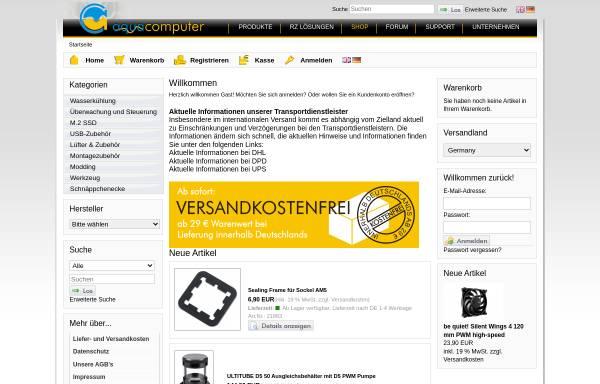 Vorschau von www.aqua-computer-systeme.de, Aqua Computer Systeme GbR