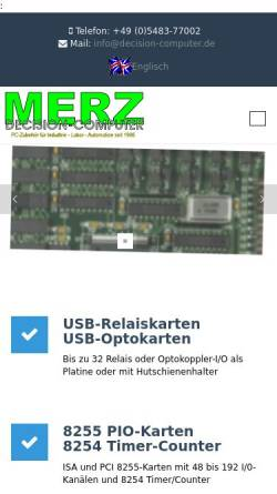 Vorschau der mobilen Webseite www.decision-computer.de, Decision-Computer Merz