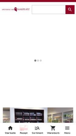 Vorschau der mobilen Webseite www.apotheke-am-saarplatz.de, Apotheke am Saarplatz