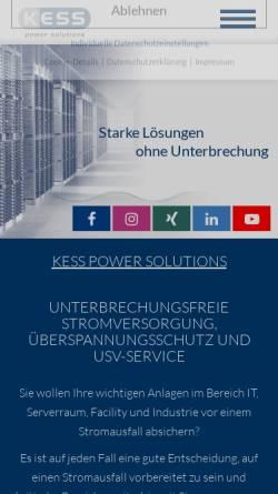 Vorschau der mobilen Webseite www.kess.at, KESS Power Solutions GmbH