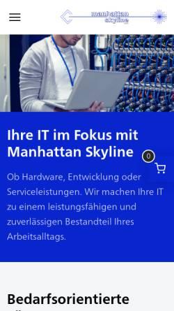 Vorschau der mobilen Webseite www.mskl.de, Manhattan Skyline GmbH