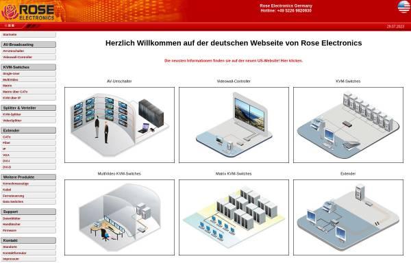 Vorschau von www.rose-electronics.de, Rose Electronics