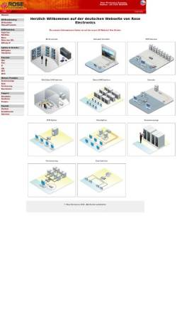 Vorschau der mobilen Webseite www.rose-electronics.de, Rose Electronics