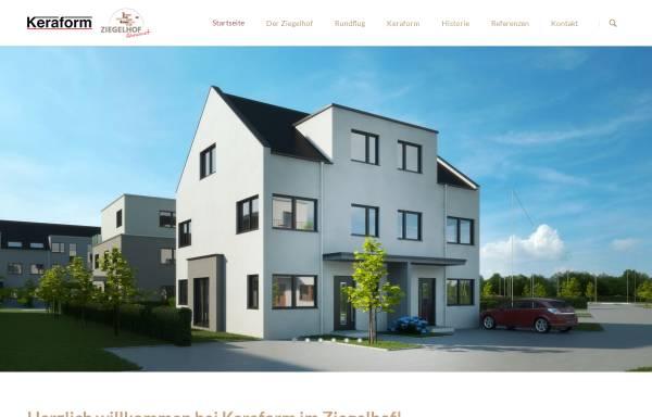Vorschau von www.keraform.de, KeraForm Spezialziegel GmbH