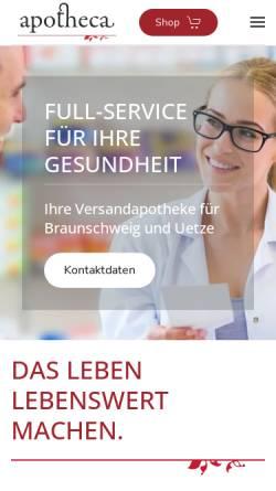 Vorschau der mobilen Webseite www.apotheca-bs.de, Hagenmarkt-Apotheke