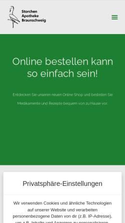 Vorschau der mobilen Webseite www.storchen-apotheke.info, Storchen-Apotheke