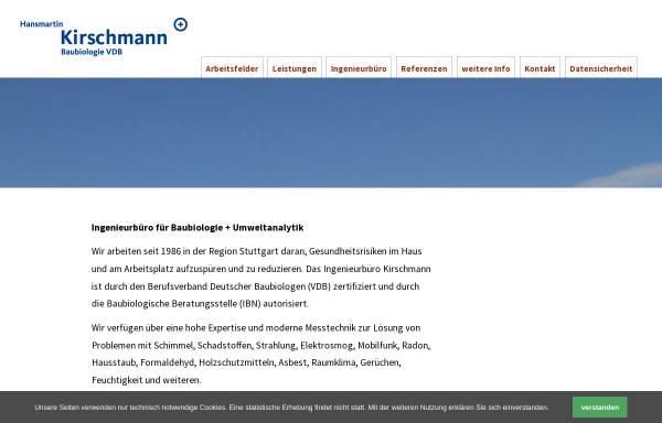 Vorschau von kirschmann.de, Hansmartin Kirschmann
