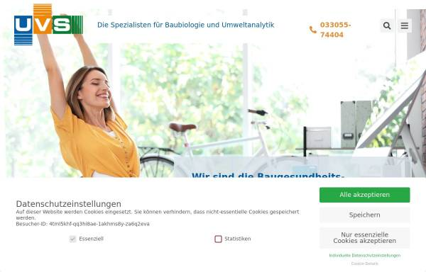 Vorschau von www.uvs.de, UvS Umweltanalytik Ingenieurbüro - Dipl.-Ing. Ulrich vom Schloß