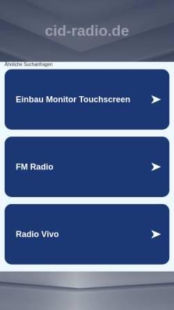 Vorschau der mobilen Webseite www.cid-radio.de, CID-Radio - christliches Radio
