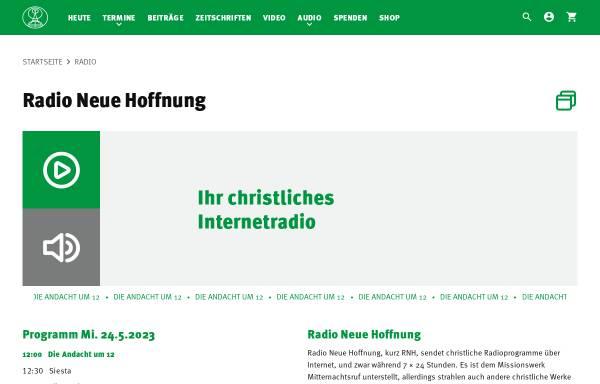 Vorschau von www.rnh.de, Radio Neue Hoffnung