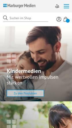 Vorschau der mobilen Webseite www.marburger-medien.de, Stiftung Marburger Medien