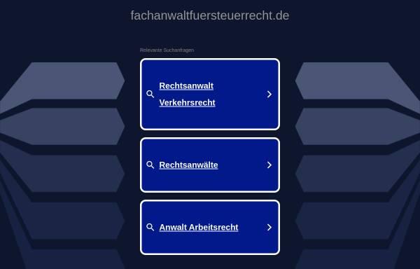 Vorschau von www.fachanwaltfuersteuerrecht.de, Rechtsanwälte Kitzmann und Partner
