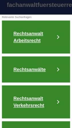 Vorschau der mobilen Webseite www.fachanwaltfuersteuerrecht.de, Rechtsanwälte Kitzmann und Partner