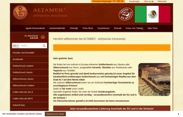 Vorschau von www.altamex.de, Altamex Artesanías e.K, Dieter Kaiser