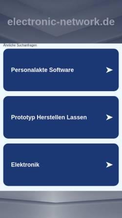 Vorschau der mobilen Webseite www.electronic-network.de, Electronic Network