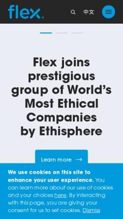 Vorschau der mobilen Webseite www.flextronics.com, Flextronics Technology (Switzerland) GmbH