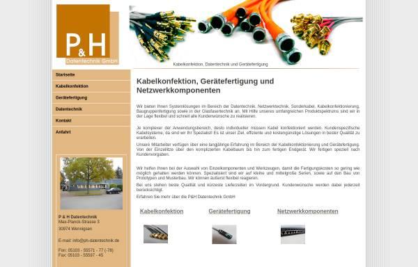 Vorschau von www.ph-datentechnik.de, P & H Datentechnik GmbH