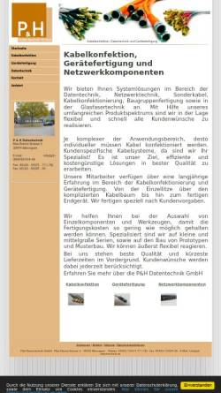 Vorschau der mobilen Webseite www.ph-datentechnik.de, P & H Datentechnik GmbH