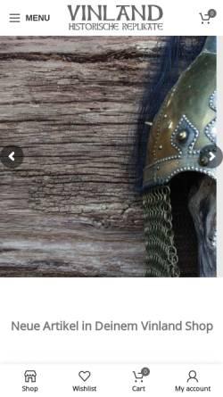 Vorschau der mobilen Webseite www.vinland-shop.de, Vinland