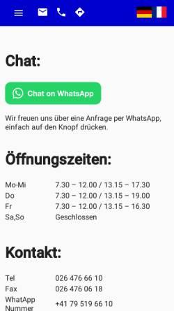 Vorschau der mobilen Webseite www.abwsa.ch, ABW Auto-Bestandteil-Wiederverwertungs AG