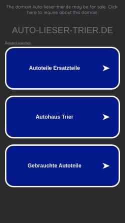 Vorschau der mobilen Webseite www.auto-lieser-trier.de, Andreas Lieser e.K.