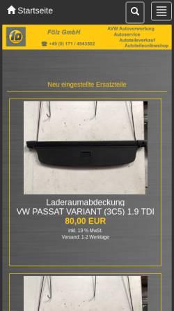 Vorschau der mobilen Webseite shop.avw-autoverwertung.de, AVW Autoverwertung Fölz GmbH