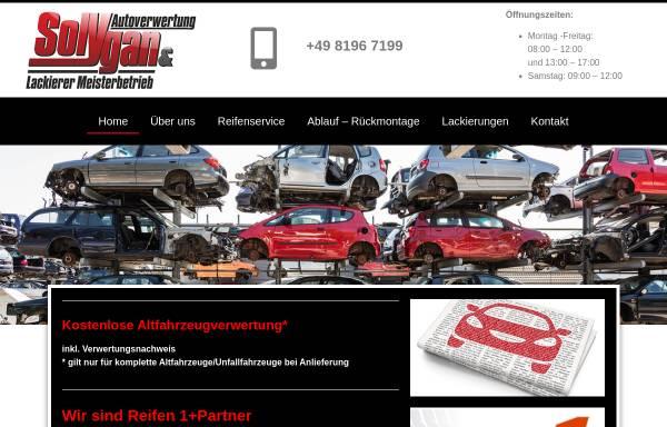 Vorschau von www.solygan.de, Solygan Autoverwertung - Hofstetten