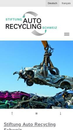 Vorschau der mobilen Webseite www.stiftung-autorecycling.ch, Stiftung Autorecycling Schweizer Automobil-Importeure im Dienste der Umwelt
