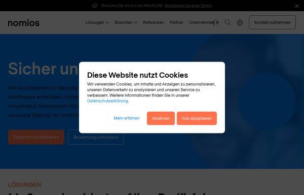Vorschau von www.nomios.de, Stefan Frank - Nomios Typo3 Webdesign