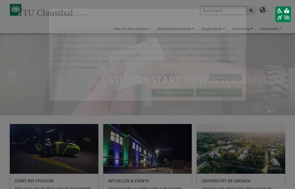 vorschau von wwwstudiumtu clausthalde studieren in clausthal - Tu Clausthal Bewerbung