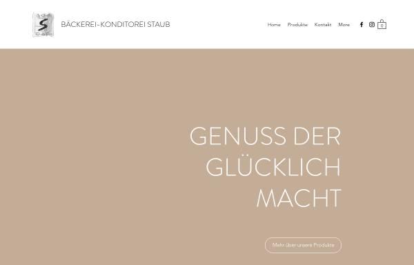 Vorschau von www.baeckerei-staub.ch, Bäckerei-Konditorei Staub, Neuheim