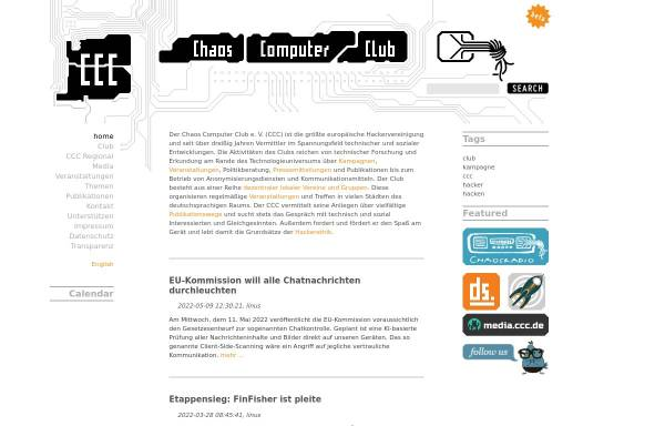 Vorschau von www.ccc.de, CCC - Chaos Computer Club e.V.