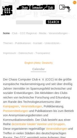 Vorschau der mobilen Webseite www.ccc.de, CCC - Chaos Computer Club e.V.