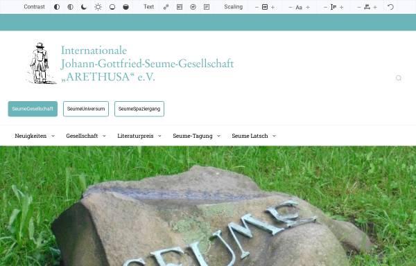 Vorschau von www.seume-gesellschaft.de, Seume-Gesellschaft e.V.