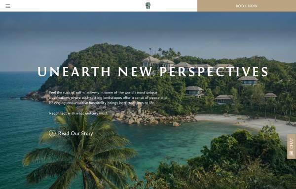 Vorschau von www.banyantree.com, Banyan Tree Hotels & Resorts