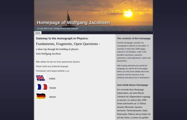 Vorschau von www.wolfgang-jacobsen.de, Physik Lehrbuch - Wolfgang Jacobsen