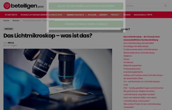 Vorschau von www.mikroskop-museum.de, Mikroskop-Museum